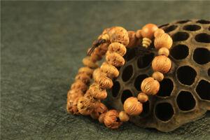 Peach Wood Carved Lotus Bodhi Bracelet