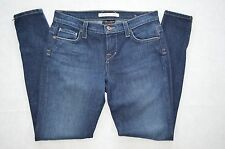 Freedom of Choice Anthropologie Mid-Rise Zip Pockets Skinny Dark Blue Denim sz 6