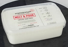 Opaque White 1kg Melt and Pour Soap Base - SLS Free - Soap Making