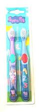 Girls Peppa Pig Twin Pk Manual Toothbrushes  3 Yrs + New Free P+P