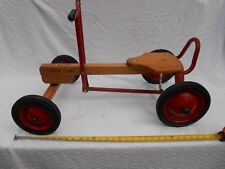 Vintage Radio Flyer Row Cart Wood Metal Steerable Ride On Rowing Pump Car