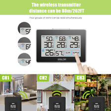 BALDR B0317 Digital Weather Station Wireless In/Outdoor Thermometer w/ 3 Sensors
