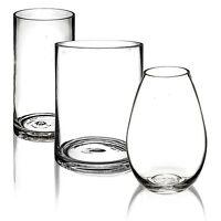 20cm Glass Vase Table Centrepiece Decorative Flower Display Floral Decor Bowl