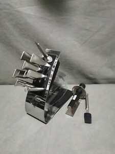 Messerblock WMF Grand Gourmet 10 teilig mit Messerschärfer und Pinsel T9