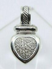 David Yurman Sterling Silver 925 18K Gold and Diamond Pendant
