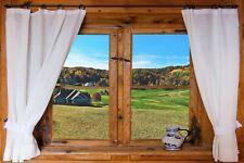 WINDOW SCENE 3D EFFECT CANVAS PICTURE POSTER PRINT UNFRAMED D28