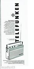PUBLICITE ADVERTISING 086  1964  transistor Bajazzo de Telefunken