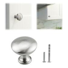Solid Steel Mushroom Knob Pull Brushed Nickel Kitchen Bath Door Cabinet Handle