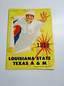 1956 TEXAS A&M v LSU FOOTBALL PROGRAM BEAR BRYANT JOHN CROW HEISMAN JIM TAYLOR