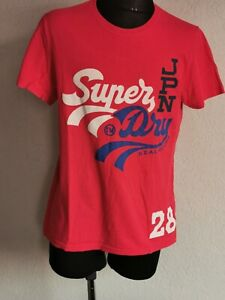 Superdry mens cotton short sleeve red T-shirt size XL