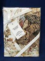 NEW~ Williams Sonoma Plymouth Turkey Kitchen Towels Set of 2 ~ Multiples