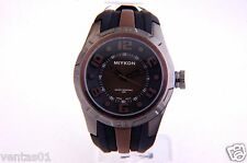 Brown Sport Watch with decorative big numbers dial Water Resist 30M B3416