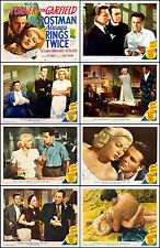 POSTMAN ALWAYS RINGS TWICE GARFIELD TURNER Set Of 8 Indiv 11x14 LC Prints 1946
