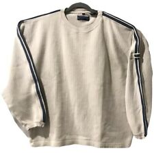 Men's XL Point Zero Slip On Ivory Long Sleeve Sweater Shirt