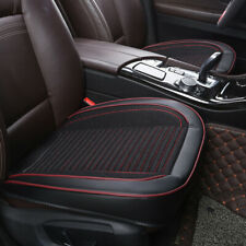 Black Universal PU Leather Car Front Seat Covers Pad Mat for Auto Chair Cushion