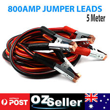 Jumper Leads 800AMP 5M Heavy Duty Booster Cables Cable Auto 4WD Truck Trailer OZ