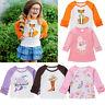 Unicorn Toddler Kids Baby Girls Casual Long Sleeve Cotton T-shirt Tops Blouse