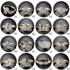 Wholesale Jewelry Gold Filled Sapphire Crystal Charm Lady Fashion Ring Lot Sz6-9