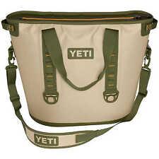 YETI Hopper 20 Portable Cooler Field Tan Blaze Orange