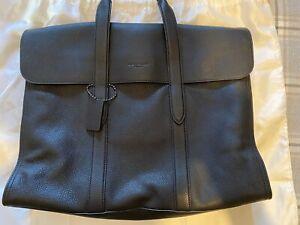 Mens Coach Metropolitan Portfolio Briefcase in Black