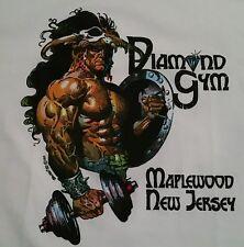Vintage 80's BORIS VALLEJO Diamond Gym T Shirt Men LG Workout Bodybuilding NOS