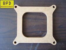 """Carb Spacer 1/2"""" Thick 4 barrel Square Bore Pattern Open Fiber Laminate Wood"""