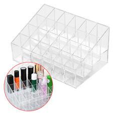 Lipstick Holder Lip Gloss Display Stand 24 Slot PP Makeup Nail Polish Organizer
