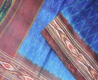 Vintage Pochampally Silk Saree Pure Silk Hand Woven Ikat Patola Indian sari 5Yd