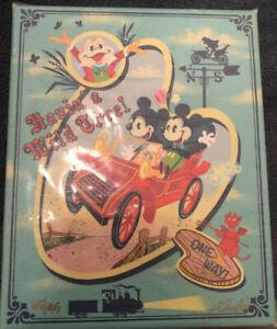 2021 Disney Parks John Coulter Mini Canvas Havin' A Wild Time Mr. Toad LE /95