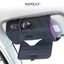 NAPOLEX JK-63 Car Sun Visor Tissue Cover Organizer Mesh Pocket Sunglass Holder