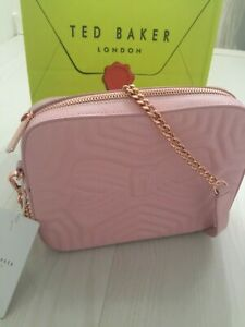 Ted Baker Quilted Leather Pink Camera Bag RRP £129 Dustbag & Gift Bag : New