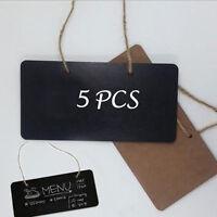 5pcs 18*8cm Wooden Blackboard Party Memo Sign Message Chalk Board Office
