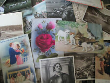 bulk lot  100 OLD VINTAGE MIXED POSTCARDS MAINLY UK 1910s to 1950 s