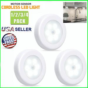 Motion Sensor LED Night Light Battery Powered Indoor Closet Cabinet Wall Cabinet