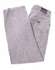 ARMANI Boys Corduroy Trousers Size 12 Medium W28 L27 Beige Cotton