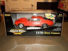 NEW 1:18 Die Cast Car ERTL American Muscle 1970 Chevy Camaro Orange PRO STREET