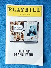 The Diary Of Anne Frank - Music Box Playbill - Opening Nite - December 4th, 1997