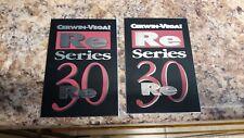 Pair Cerwin Vega RE 30 Speaker Cabinet Badges (2)