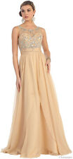 DEMURE BODICE EVENING PROM GOWNS LONG DRESSES FORMAL DANCE PARTY AND PLUS SIZE