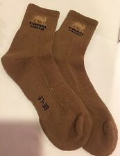 Womens Camel Wool Socks Stretch Brown Fits US Sizes 7-8-9 Mongolia