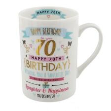 Signography Pink & Gold Gift Boxed Range Birthday Mug - 70th Birthday