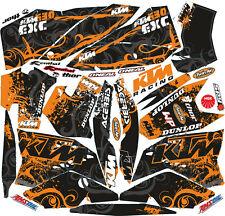 MOTO-X DECAL STICKER KIT IN MX VINYL FITS  08 09 10 KTM EXC XCF 530(NON OEM)