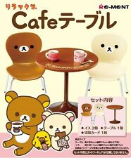 Re-Ment Rilakkuma Bear Cafe Table & Chairs for Chocolate Café