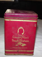 VINTAGE CHRISTIAN PEPER'S PIPE TOBACCO POUCH MIXTURE W VIRGINIA  RED TIN