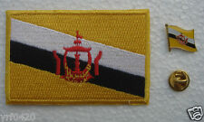 Brunei National Flag Pin and Patch Embroidery