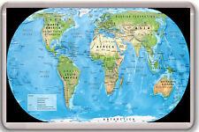 SATELLITE MAP OF THE WORLD FRIDGE MAGNET IMAN NEVERA
