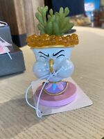 """2021 Disney Parks Beauty & The Beast Chip Faux Succulent New Tag 4.5"""" Tall"""
