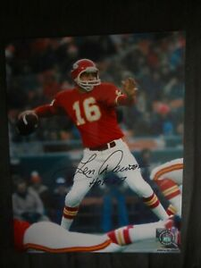 Len Dawson signed 8x10 photo w/COA HOF 87 Kansas City Chiefs