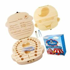 Baby Tooth Fairy Box Keepsake for Boys  Wooden Tooth Holder f 00004000 or Kids   Baby S.