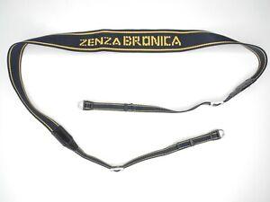 Zenza Bronica Blue / Yellow Camera Neck Strap w/ Lugs For ETRS ETRSi SQ SQ-Ai
